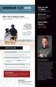 info for Men's Seminar
